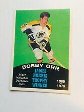 Bobby Orr opc James Norris Trophy winner grade hockey card 1970-71