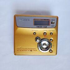 Sony Net Md Gold Walkman Mz-N505 Type-r vintage portable minidisc recorder