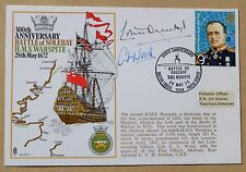 HMS WARSPITE BATTLE OF SOLEBAY 1972 COVER SIGNED Cdr WOOD & REAR ADMIRAL DUNLOP