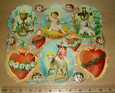 alter Bogen Oblatenbild Set christliche Symbole Prägung Scrub Weihnacht 2586.