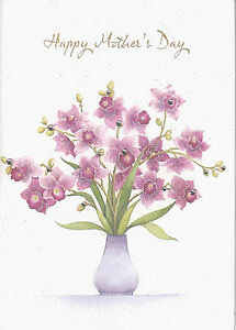 PAPYRUS MOTHERS DAY CARD NIP (MSRP $6.95) PINK ORCHIDS CARD (P5)