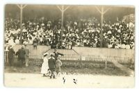 RPPC Grandstand Fair NAPLES NY Finger Lakes Ontario County Real Photo Postcard