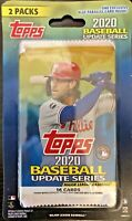 2020 Topps Baseball Update RETAIL Pack HOT LOT OF TWO platinum bowman chrome