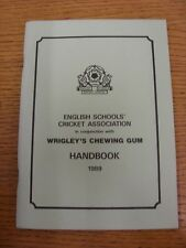 1989 Cricket: English Schools Association - Handbook. Thanks for taking the time