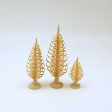 Miniature Wood Trees Christmas Decoration Erzgebirge Germany
