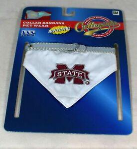 NCAA - Mississippi State University Reflective Pet Collar Bandana - Small