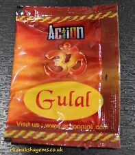 GULAL FOR POOJA PUJA PRAYER RED COLOR GULAL LAL HOLI COLOR POWDER 5 GRAMS SACHET