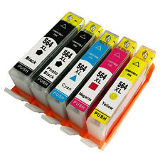 5PK 564 XL Ink Cartridge NO-OEM For HP 564XL Deskjet 3070a 3526 3522 3521 3520