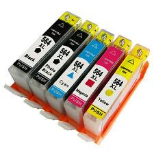 5PK 564 XL Ink Cartridge NO-OEM For HP 564XL Deskjet 3070a 3526 3522 3521 3520