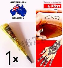 Henna Paste Cone Instant Herbal Tattoo Body Paint Drawing Fun & Lasting BLACK