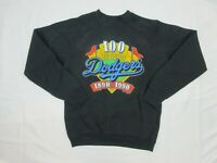 Vintage 1990 Dodgers Mens Jumper Sweater Size L 100th Anniversary Made in USA