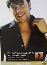 "DUNCAN JAMES ""FUTURE PAST"" THAILAND PROMO POSTER - Blue, U.K. Boy Band"
