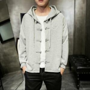 Chinese Style Casual Hoodies Coats Jacket Spring Hood Slim Jackets