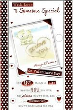 To SOMEONE SPECIAL VALENTINE'S DAY ~ QUALITY VALENTINES CARD WITH LOVELY WORDS