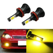 2x LED H8 H9 H11 H16 Yellow Bulbs Car DRL Fog Light Kit 12V