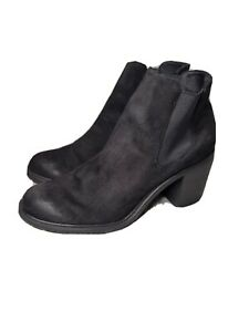 Merona~Woman's Black *Faux Suede* Adalia Ankle All-Weathe/ Boots - Size 10~Nice