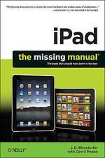 """AS NEW"" iPad: The Missing Manual, J.D. Biersdorfer, Book"