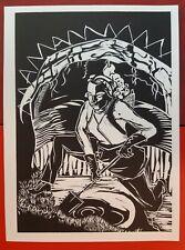 (144) Rosa Loy, Original Linolschnitt, Neue Leipziger Schule, Frau von Neo Rauch