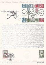 Document Philatélique Timbre  1er Jour : 09/09/ 1978 - Métiers d'Art
