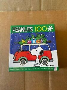 100 Piece Puzzle PEANUTS SNOOPY WOODSTOCK Ages 5+ Christmas Tree Presents VW Van