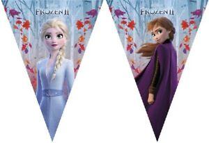 Disney Frozen 2 Flag Banner Bunting Children's Birthday Party Decoration Girls