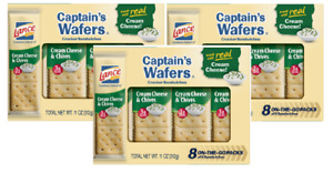 Lance Captain's Wafers Cream Cheese & Chives Sandwich Crackers 3 Pack