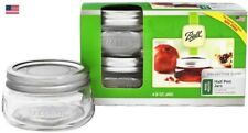 Ball Wide Mouth Half Pint Canning Mason Jars, Collection Elite Squatty 8Oz Pkg-4