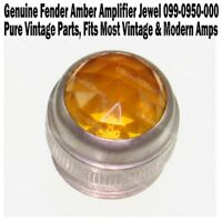 Genuine Fender AMBER Amplifier Jewel Pure Vintage Lens Amp NEW