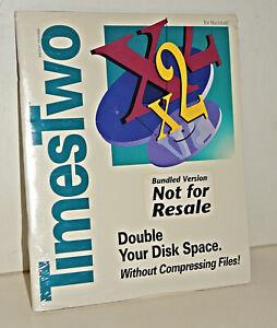 TimesTwo Disk Management Software for Vintage Apple Macintosh -- SEALED NEW OEM