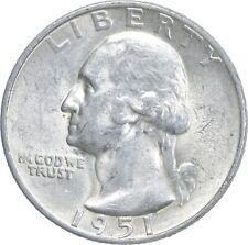 Unc BU MS 1951-S - US Washington 90% Silver Quarter Coin Set Break *392