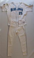 Carlos Delgado game worn used 2001 Toronto Blue Jays uniform! Jersey & Pants!
