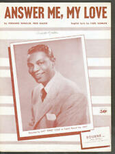 Answer Me My Love 1953 NAT KING COLE Vintage Sheet Music Q10