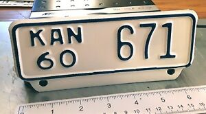 KANSAS - 1960 near mint low number MOTORCYCLE license plate, choice example