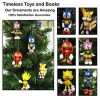 Sonic Christmas Ornaments 6 Piece Set Featuring Tails and Knuckles    BRAND NEW