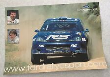 AFFICHE POSTER FORD FOCUS WRC MARKKO MARTIN FRANCOIS DUVAL WRC RALLY 2002