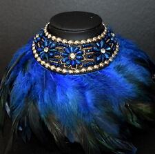 Luxus XL Kette Federkette Paris Halskette Natur Gliederkette Prestige Kristall