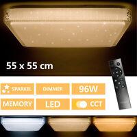 Lámpara LED De Techo Salón con Control Remoto 96W Dormitorio Cielo Estrellado