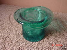 Old Avon Pitkin Hat Candle Holder Glass Teal Collector