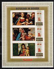 Burundi Art Madonna Famous Italian Paintings Siuvenir Sheet New Year 1969 MNH