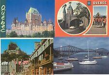 Lot de 4 cartes postales anciennes CANADA QUEBEC ville