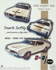 1969 OLDSMOBILE HURST OLDS HURST 442 HOLIDAY COUPE SPORTS CAR 8 X 10 PHOTO