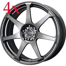 Drag Wheels DR-33 18x7.5 5x100 5x114.3 Charcoal Gray Rims For Tiburon Legacy