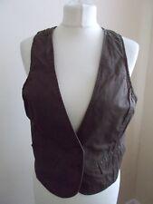 Women's Brown V Neck Waistcoat Vest By Active Wear LA Redoute Creation  Size 12