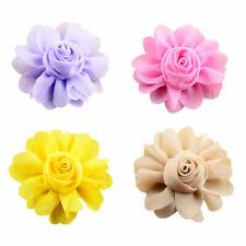 4PCS Charm Chiffon Rose Dog Collar Flower Accessories Party Pet Slide Bowtie