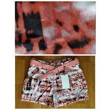 New CALVIN KLEIN Women's  27 or 3 / 4 Multicolor Print Pleated Cotton Shorts $59
