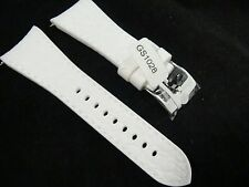 Glam Rock GS1028 26-mm White Textured Silicone Strap New & Authentic