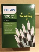 Philips-Twinkling Christmas/Party/Wedding Lights 100 Mini-Clear/White In/Outdoor