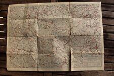 28514 große dekorative alte Landkarte Dr. Spohrs Wanderkarte Vogtland um 1930