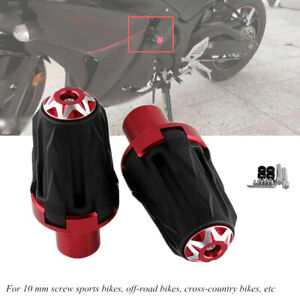 Aluminum+Steel Motorcycle10MM Frame Engine Protector Ground Crash Slider Cap Kit