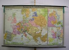 Schulwandkarte Beautiful Old Wall Map Europakarte 15.Jahrh. 81 1/8x52 3/8in